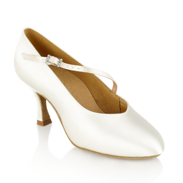 Obrazek 116A Rockslide | White Satin | Standard Ballroom Dance Shoes | Sale