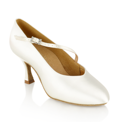 Picture of 116A Rockslide | White Satin | Standard Ballroom Dance Shoes | Sale
