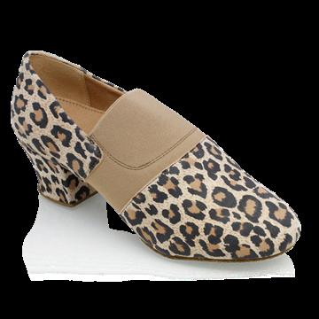 Obrazek 419 Luna | Leopard Print Leather/Elastic