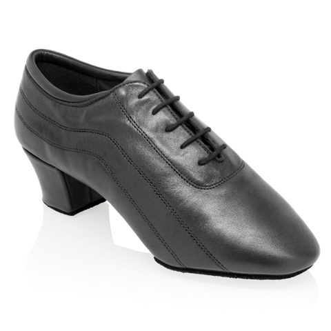 Picture of H447 Zephyr | Black Leather | Latin Dance Shoes