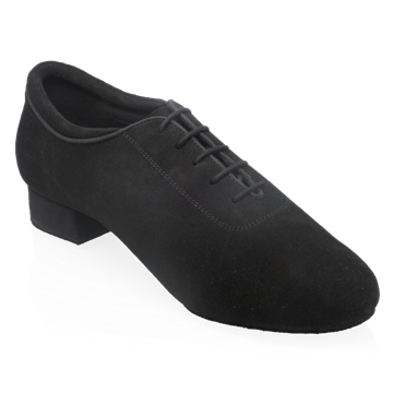 Picture of 355N Alex | Black Nappa Suede Leather | Standard Ballroom Dance Shoes (Classic Design - No Stitching)