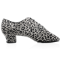 Picture of H460 Thunder | Grey/Black Leopard Print Leather | Men's Latin Dance Shoes