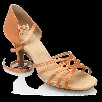 Picture of 882-X Tiina Xtra | Light Tan Satin  | Latin Dance Shoes